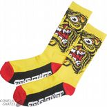 "SANTA CRUZ ""Rob Face"" Socks Skateboard Jim Phillips YELLOW OSFA 1 pair Roskopp"